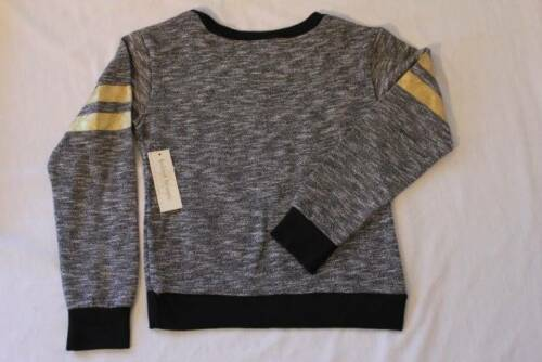 NEW Girls Shirt Size 4-5 XS Gray Black Knit Top Long Sleeve School Clothes Fal
