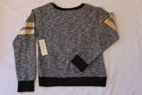 NEW Girls Shirt Size 4-5 XS Gray Black Knit Top Long Sleeve School Clothes Fal