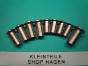 Hülsenmuttern Messing Vernickelt Schlitz M 6x10x15 NEU - <span itemprop=availableAtOrFrom>Hagen, Deutschland</span> - Rücknahmen akzeptiert - Hagen, Deutschland