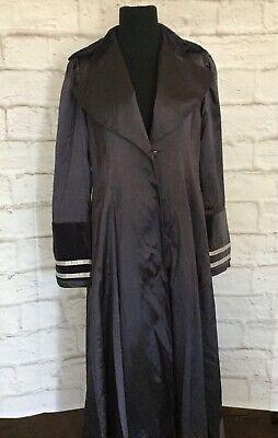 Victorian Trading Co Hopeless Romantic Plum Wine Velvet Jacket XL