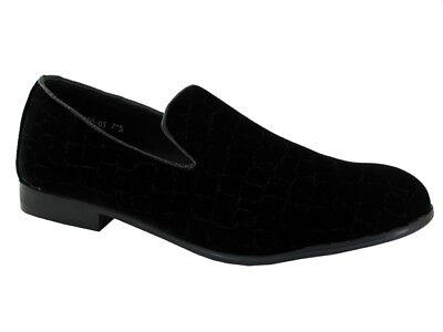 Hombres nuevos Crock resbalón en Negro Formal/Oficina/Trabajo Zapatos Uk Size 7.5-12