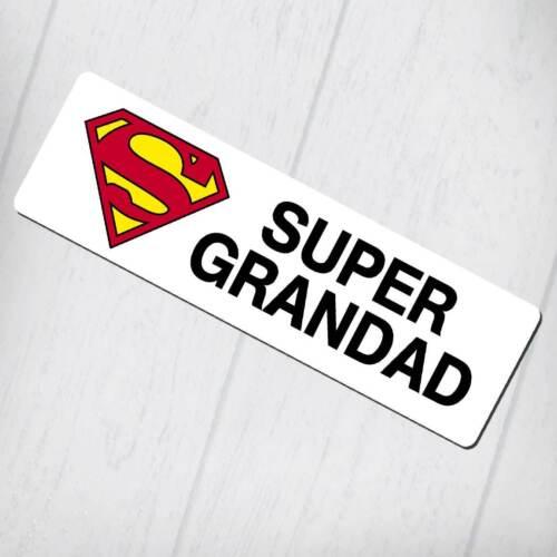 Super Grandad Design Aluminium Bookmark