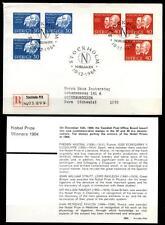 NP-Träg. J.1904, u.a. W.Ramsey, I.Pawlow.FDC-R-Brief+Beschreibung. Schweden 1964
