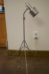 Vintage mid century chrome metal tripod music stand collapsible image is loading vintage mid century chrome metal tripod music stand mozeypictures Gallery
