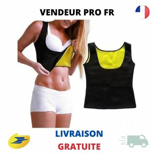 Gilet de Sudation Femme T-Shirt Sauna Perdre Ventre Transpiration Sport Cellulit