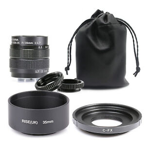 Fujian-35mm-f-1-7-CCTV-Cine-lens-for-Fuji-Fujifilm-X-Pro1camera-adapter-amp-hood-amp-po