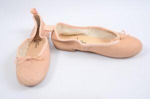 Ballet-Beautiful-Street-Ballerina-nude-6-17-leather-bow-trim-flat-shoe-NEW-295