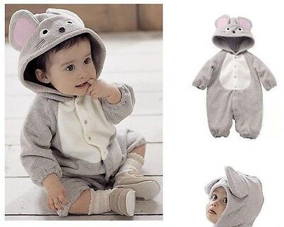 NWT Baby Boy Winter Costume Bulldogs/Cow/Monkey/Zebra One-Piece Romper 00/0/1/2