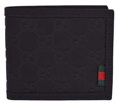 d7c4d53b75f ... 217044 Men s BLACK Leather GG Guccissima Trifold Passcase ID Wallet.  anniesuniqueaccessories. New Gucci 282041 Black Neoprene GG Guccissima Web  Tab ...