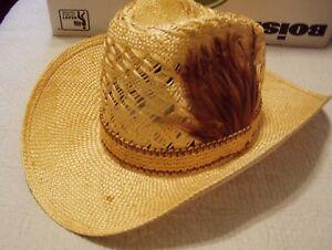 ad13c5102a5f6 Image is loading Vintage-EDDY-BROTHERS-BROS-CALIFORNIA-Straw-Western-Cowboy-
