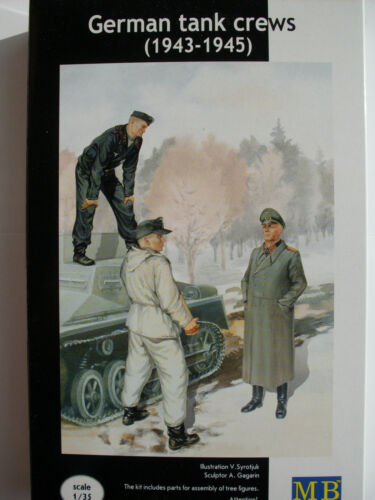 WWII Deutsche Panzerbesatzung Master Box Figuren 1:35, Art.Nr. MB3508