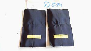 Abzeichen-Daenemark-Rangschlaufen-Marine-1-Balken-gelb-1-paar-D514