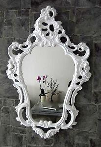 Espejos Frugal Exclusivo Espejo De Pared Antiguo Barroco Reproducción Blanco 50x76 Decoración Muebles Antiguos Y Decoración