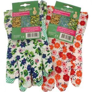 Gartenhandschuhe-Damen-bunt-bedruckt-Blumenmotive-Gartenarbeit-ABS-rutschsicher