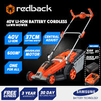 Redback 40v Cordless Lawn Mower - Battery Power (6ah Battery,2a Charger)