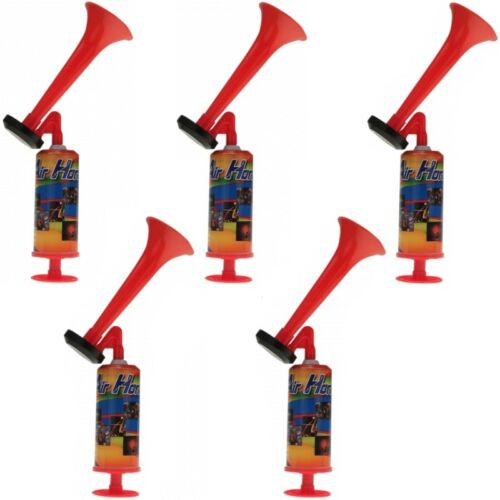 5x Signalhorn Druckluftfanfare gasfrei 44 cm Fanfare Fan-Tröte Fantröte Fanhorn