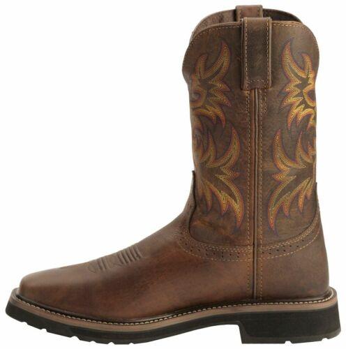 "Justin Original Work Boots 11/"" Driller Square Toe ST choose size//color"