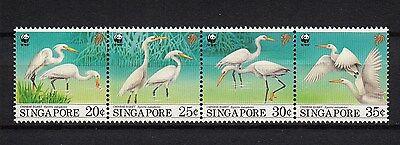 Knap 103867/ Singapur 1993 - Mi 705/8 - China-seidenreiher / Wwf - ** Glanzend