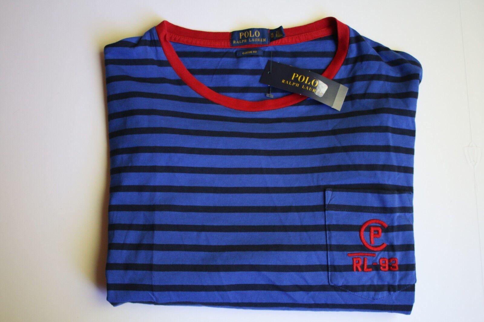 a6bc651a Polo Ralph Lauren SS Cp-93 RL Sailing T Shirt Striped Mens XL ...