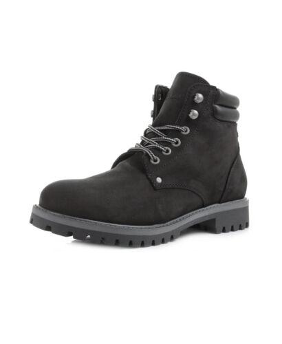 Negro Zapatos Caliente Nubuck Alto Jack Top Piel Botas Stoke jones De qvt0x6