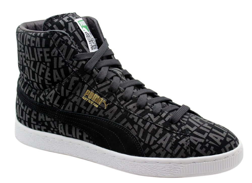 Puma Suede Mid X Stuck up X Blife Mens Trainers Black Lace Up 358866 01 WH