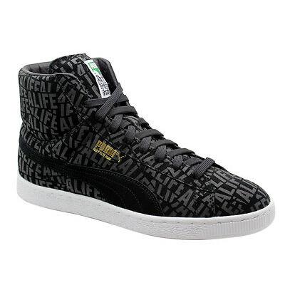 Puma Suede Mid X Stuck up X Alife Mens Trainers Black Lace Up 358866 01 WH