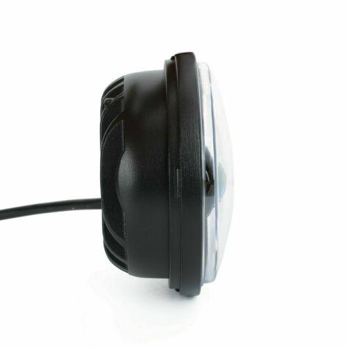 2x 4.5 Inch Black LED Spot Fog Passing Light Lamp For Harley Davidson