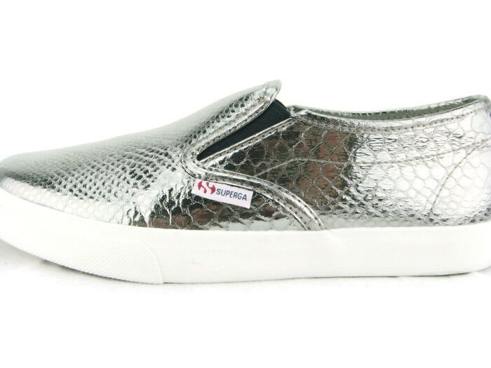 Superga 2311 METALLICSYNTHSN SlipOn  Shoes,Graphite,New,7.5M/9W/40EU,0366
