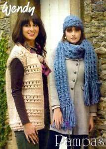 010b5bff5 Image is loading Wendy-Knitting-Pattern-5643-Ladies-Jacket-Scarf-Hat-