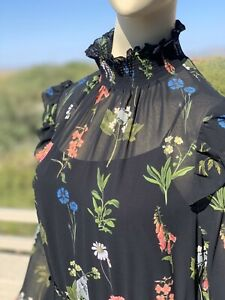 Irregular-Ted-Baker-Chiffon-Dress-with-Slip-US8-10