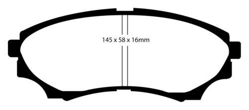 EBC Blackstuff Bremsbeläge Vorderachse DP1921 für Mazda BT-50
