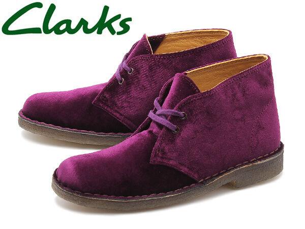 Clarks Original Mujeres Botas Desierto X ** ** ** Sintético vino Reino Unido 3.5, 5.5, 6, 7 C