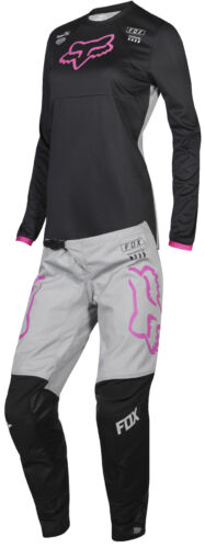 Fox Racing Womens Black//Pink 180 Mata Dirt Bike Jersey /& Pants Kit Combo ATV