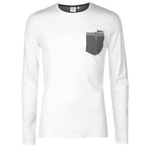 Magasiner Pour Pas Cher T-shirt Manches Longues Homme Lee Cooper (du S Au Xxl) Neuf éConomisez 50-70%