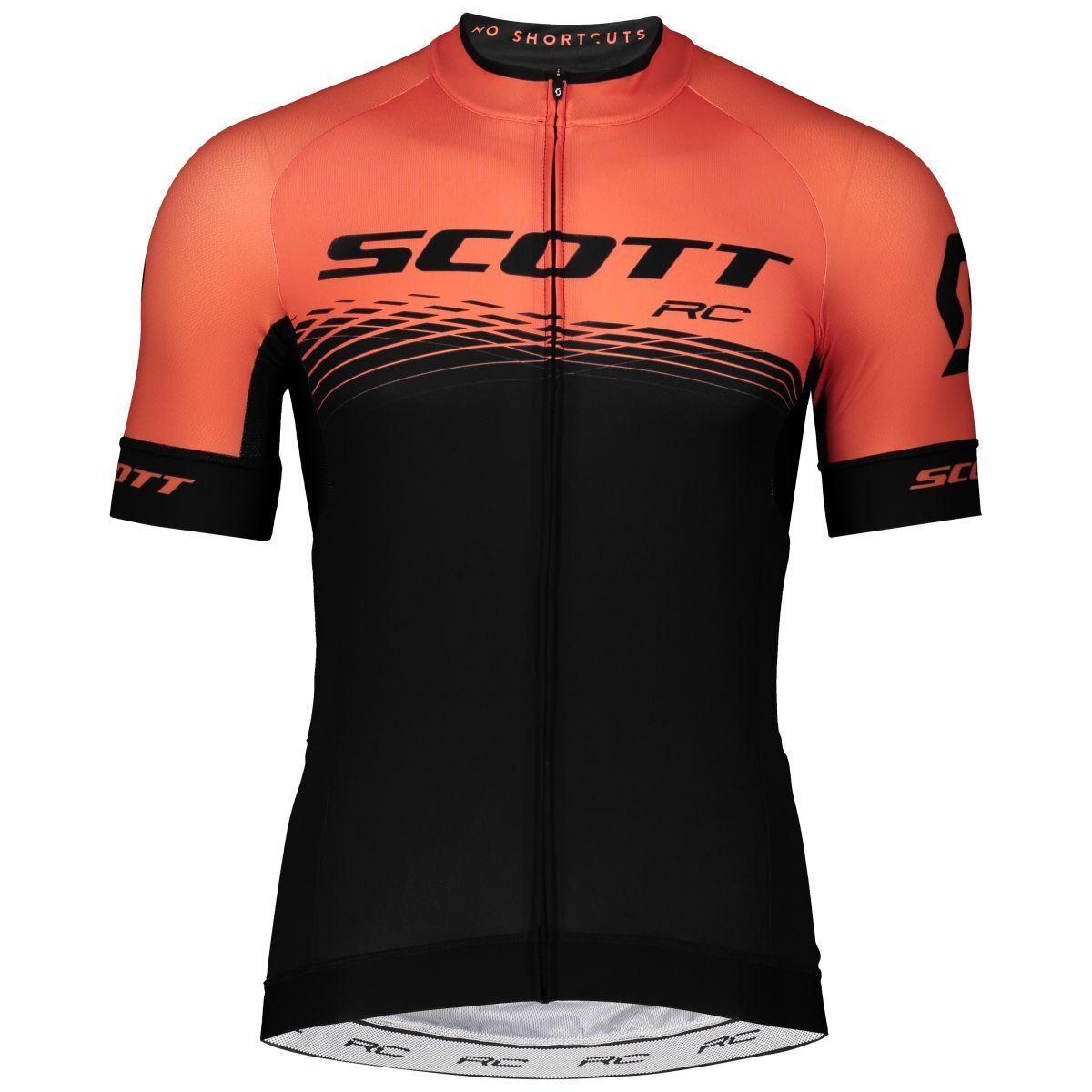 Scott RC Pro Fahrrad Trikot kurz schwarz Orange 2019  | Um Sowohl Die Qualität Der Zähigkeit Und Härte