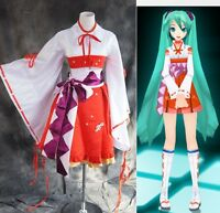 a-185 S/m/L/XL/XXL VOCALOID MIKU Miko Cosplay costume Dress KIMONO costume