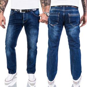 Lorenzo-Loren-Herren-Jeans-Designer-Jeans-Herrenhose-Dunkelblau-Stonewash-LL-328