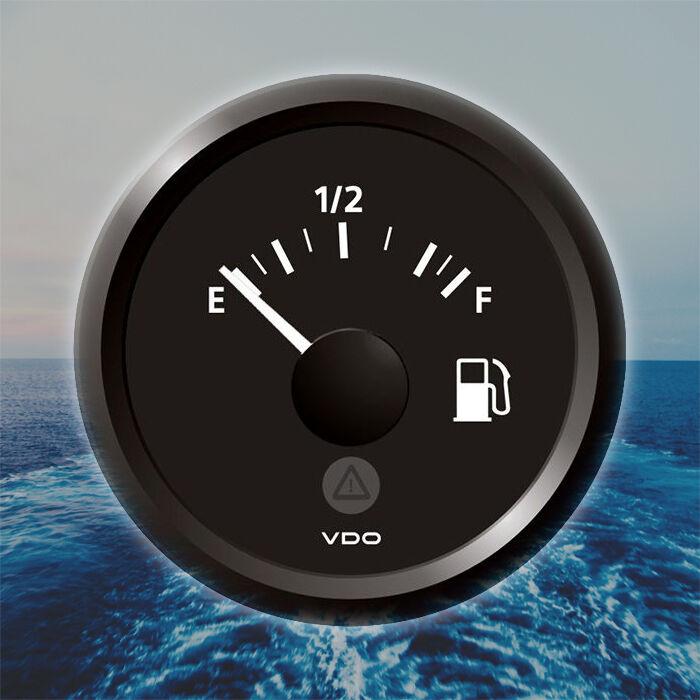 VDO Viewline Kraftstoffanzeige Anzeige 52mm 2  12V E-1 2-F schwarz A2C59514091