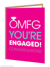 Brainbox Candy Wedding Engagement Engaged Card funny cheeky joke humour OMFG