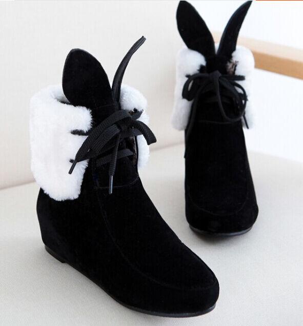 Stiefeletten stiefel frauen keilschuhe cm 4.5 schwarz-weiss komfortabel simil