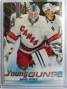 DAVID-AYRES-SP-YOUNG-GUNS-RC-2019-20-UD-SP-AUTHENTIC-ROOKIE-CARD-HURRICANES-6