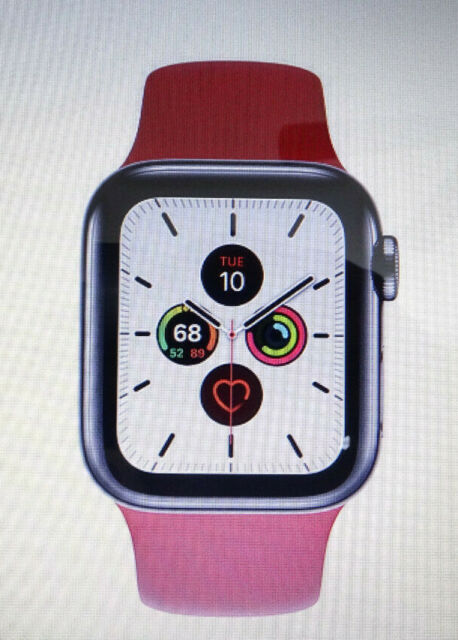 Apple Watch Series 5 40mm Silver Stainless Steel Case With Pink Band For Sale Online Ebay