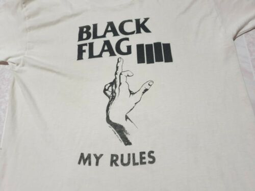 Rare vintage Black Flag My Rules Vintage t-Shirt 8