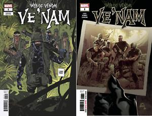 WEB OF VENOM VE/'NAM #1 2018 PARLOV VARIANT COVER SET