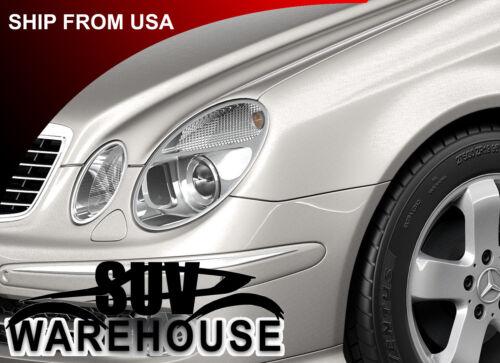 Chrome Head Light Lamp Trim Rim Fits: Mercedes Benz W211 2002-On E- Class