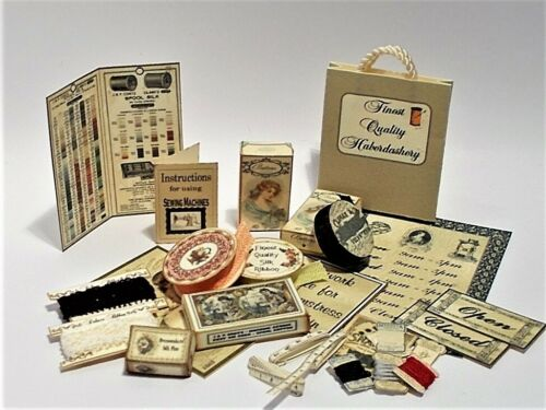 Dolls House printie KIT-Vintage MERCERIA CUCITO #2 miniature 1//12th