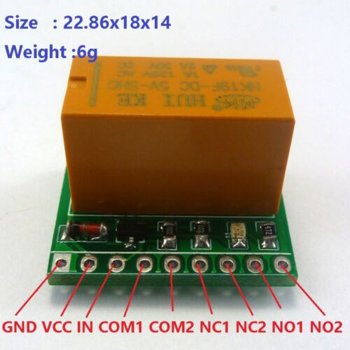 5V 2A DPDT Relay Board HK19F PCB Module for Motor LED stereo Quadcopter Toy car