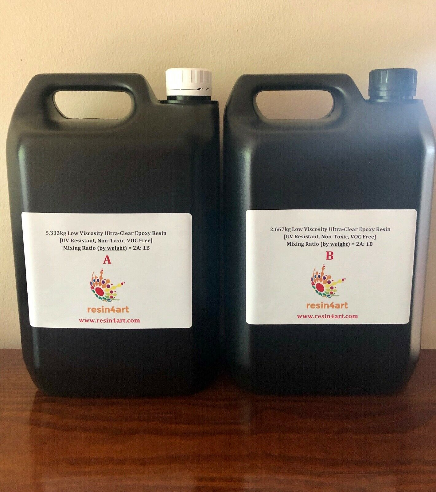 8kg Ultra-Transparent Niedrig Viskosität Ungiftig Epoxy Harz für Glasfaser