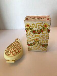 Avon-Floral-Heart-Potpourri-Pomander-Sachet-Plastic-With-Flowers-Vintage