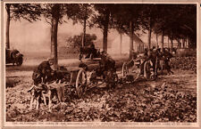 1914 ROTOGRAVURE DOG CART WWI BELGIUM  ST GILLES AUTOMOBILE SOLDIERS